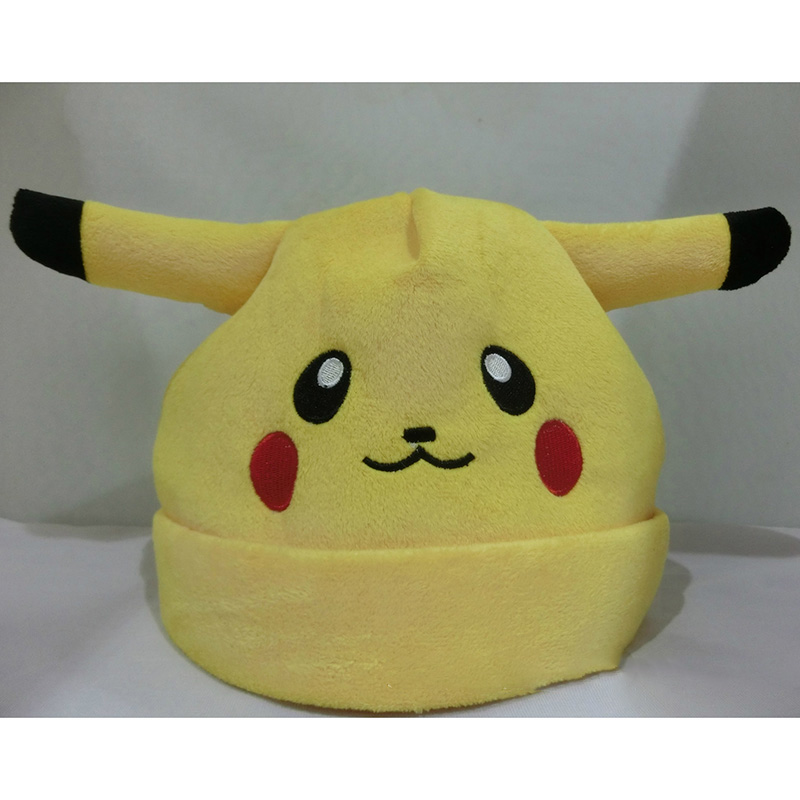 font b Anime b font cartoon Pokemon Pikachu elf funny hat for women men beanie