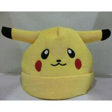 Anime cartoon Pokemon Pikachu elf funny hat for women men beanie cosplay costume cute lovely warm winter hat 75zAA512