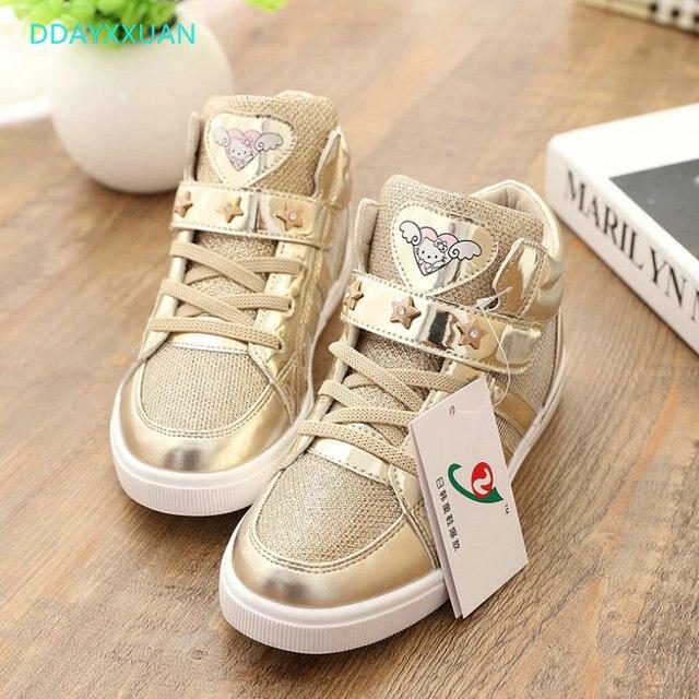Zapatos para niños 2018 nuevos zapatos deportivos de otoño para niñas de  marca de moda Casual 6b47580f9abd4