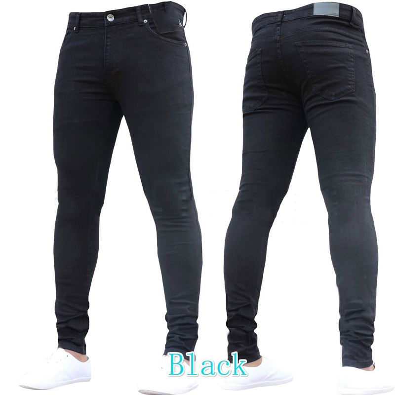 Casual Black Skinny   Jeans   Men 2018 Brand Stretch Slim Fit Denim Trousers Pantalon Homme   Jean   Hip Hop Biker Style Tight   Jeans   3XL