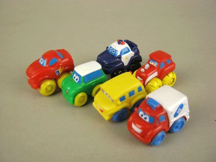 ᗕpvc Mini Car Figure Hand Done Set Toy Playset Cake Topper