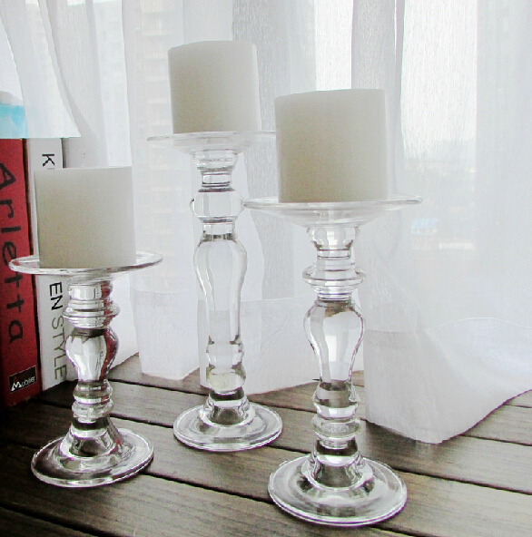Buy glass candle holder wedding decoration candlesticks wedding candelabra home Home decor candlesticks