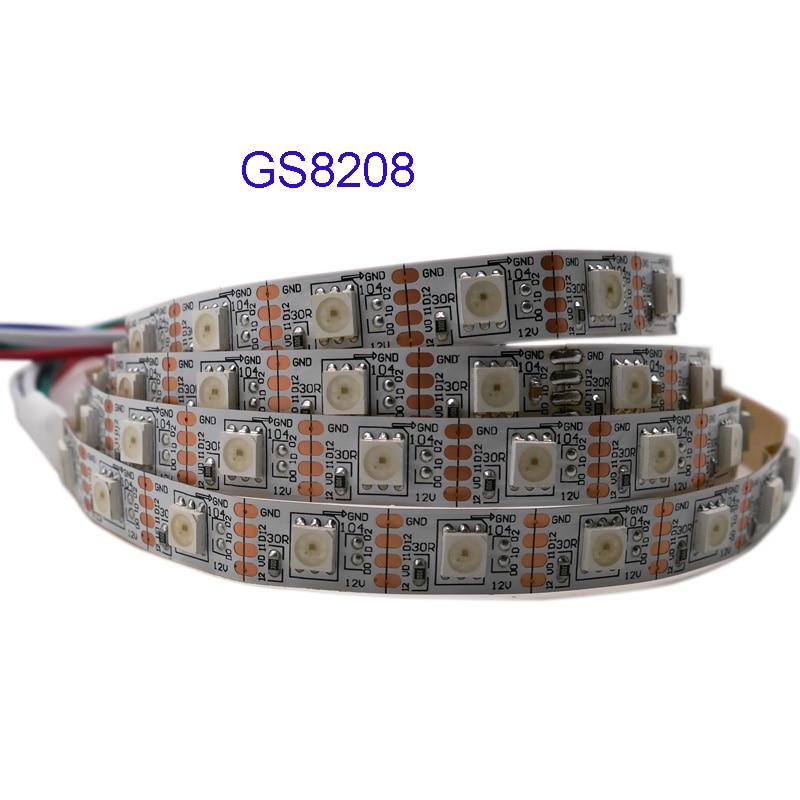 1 m/3 m/5 m GS8208 intelligente pixel ha condotto la striscia 30/60/144 pixel/ led/m, WS2811 Aggiornato, DC12V, IP30/IP65/IP67, Nero/Bianco PCB, 5050 SMD RGB1 m/3 m/5 m GS8208 intelligente pixel ha condotto la striscia 30/60/144 pixel/ led/m, WS2811 Aggiornato, DC12V, IP30/IP65/IP67, Nero/Bianco PCB, 5050 SMD RGB