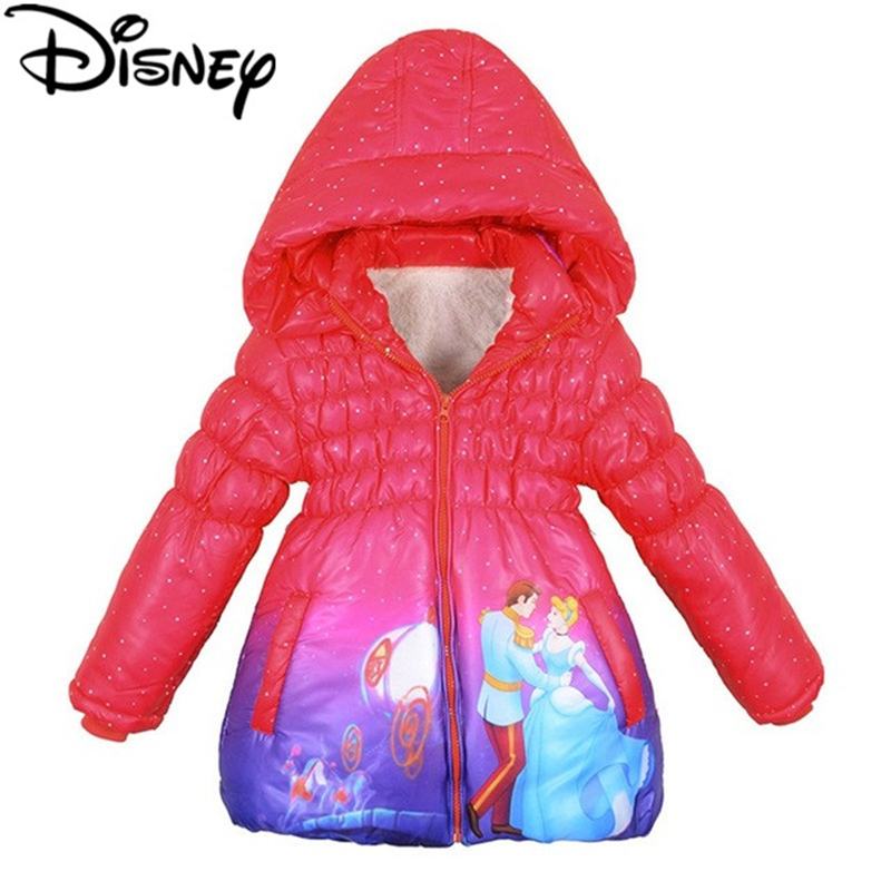 size 3T Girls Disney Princess Jacket Pink Hooded Winter Snow Coat Toddler