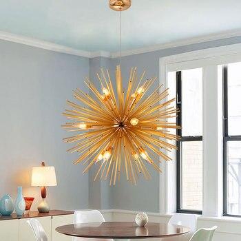 אופנה תליון אורות סלון עתיק מסירת מנורות זהב אמנותי LED תאורה תעשייתי Luminaria מודרני עיצוב הבית
