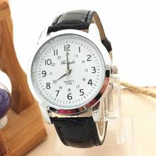 relogio masculino erkek kol saati reloj mujer Analog Luxurious Sports activities PU Leather-based watch males Important