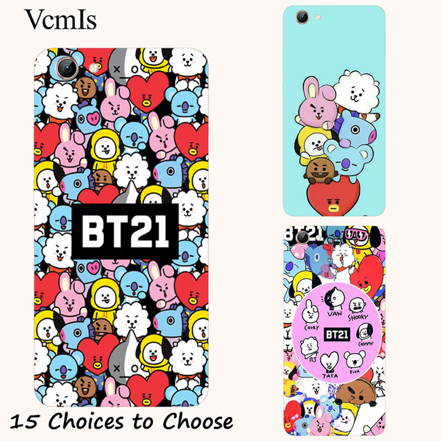 US $2 3 18% OFF|BTS Boys BT21 silicone Painting Case For Vivo Y21 Y25 Y65  Y66 Y67 Y71 Y71i Y81 Y81i Y83 V5 V5s Lite V7 Plus Phone Printed Cover-in