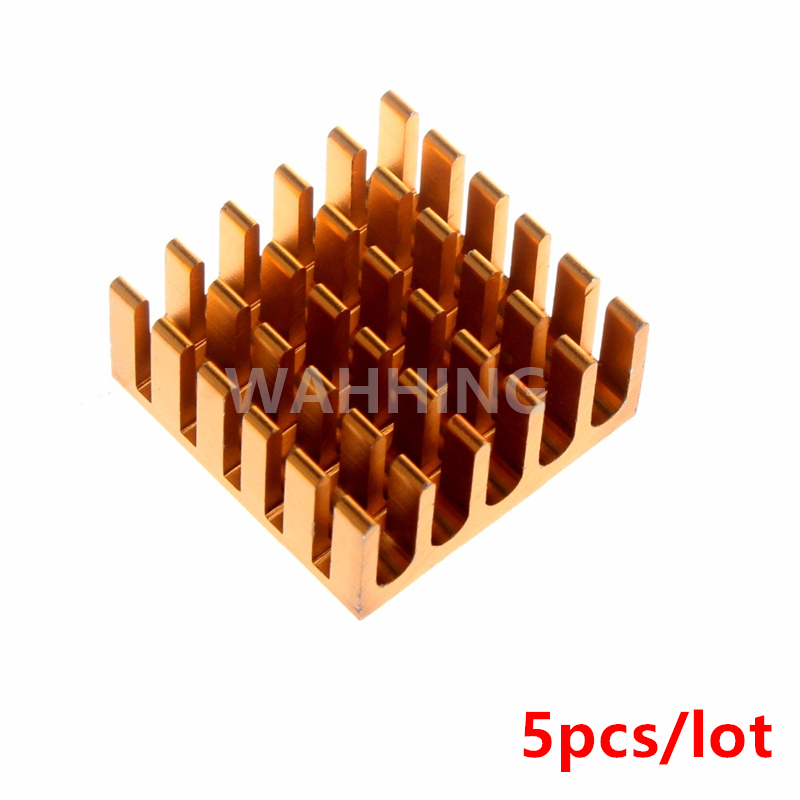 5pcs Computer Cooling Fin Radiator Aluminum Heatsink Heat sink for Electronic Heat dissipation Cooling Pads 22*22*10mm HY1144*5 medium computer cpu plastic cooling fan leaves card blower heat sink