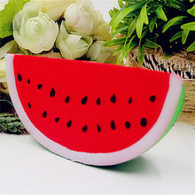 20 CM Jumbo Watermelon Phone Straps Squishy Slow Rising Retail Packaging Charms Fruit Scented Pendant Bread Kid Toy Gift 18*9cm(China)
