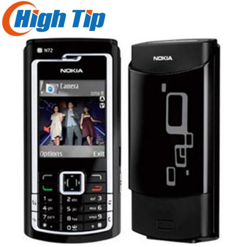 Refurbished N72 Original Nokia N72 Mobile Phones FM Radio 2MPBluetooth Jave Free Shipping 1 Year Warranty