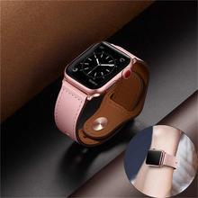 Кожаный ремешок для pulseira apple watch band 42 мм 38 мм 40 мм 44 мм спортивный высококачественный Корреа для apple Браслет для iwatch 4 3/2 ремень