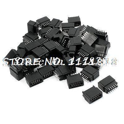 50 Pcs 2.54mm Pitch IDC Type Card Edge Plug Pins Connector 10 Pins [vk] dh32b 37s idc plug 37pos connectors