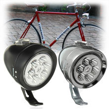 Ajustable 160 grados Retro Vintage 6 LED bicicleta luz delantera faro ciclismo bicicleta de montaña lámpara de cabeza con soporte