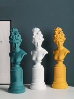 Nordic plaster sculpture resin modern creative art decoration living room home office decoration