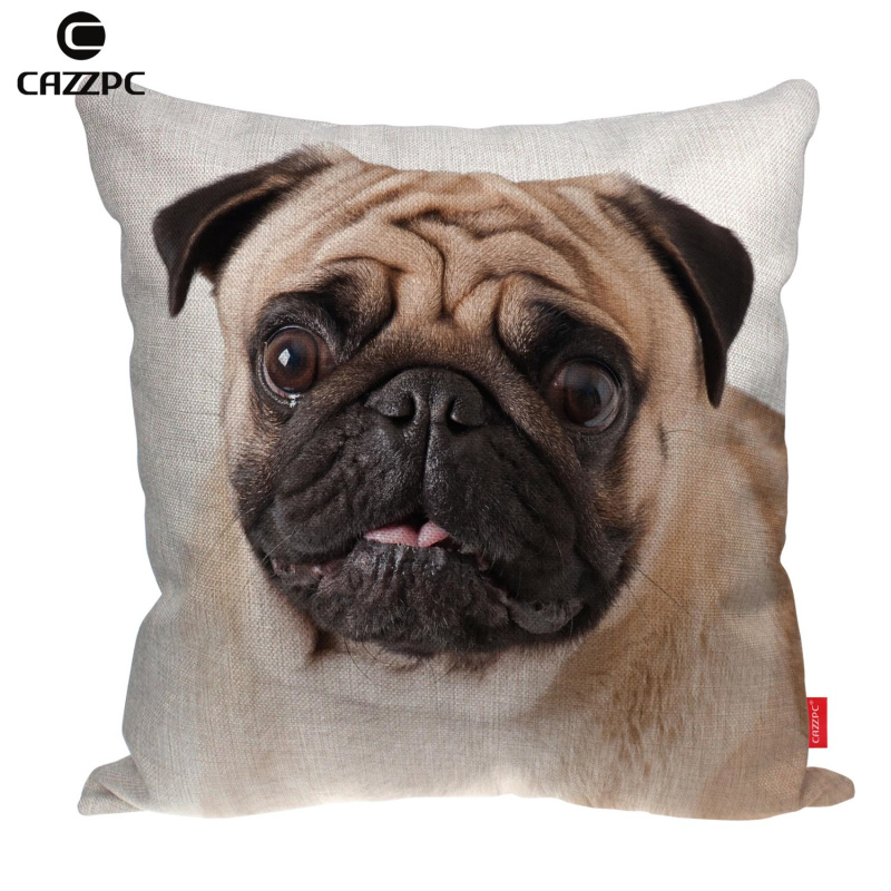 Cute Pet Dog Big Face Print Customized Linen Car Sofa Chair Decorative  Throw Pillowcase Cushion Cover Home Decor-in Cushion Cover from Home    Garden on ... 84931fe134f6