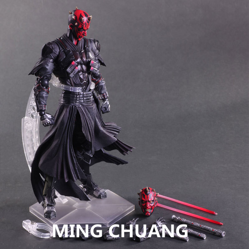 Star Wars: The Force Awakens PLAY ARTS Darth Maul PVC Action Figure Collectible Model Toy with retail box 26CM Q59 star wars variant play arts stormtrooper pvc action figure collectible model toy 26cm kt1722