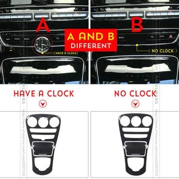 ABS Carbon Fiber Color Console Gear Panel Frame Cover Trim Stickers Parts for Mercedes Benz C class W205 15-17 / GLC X253 16-17