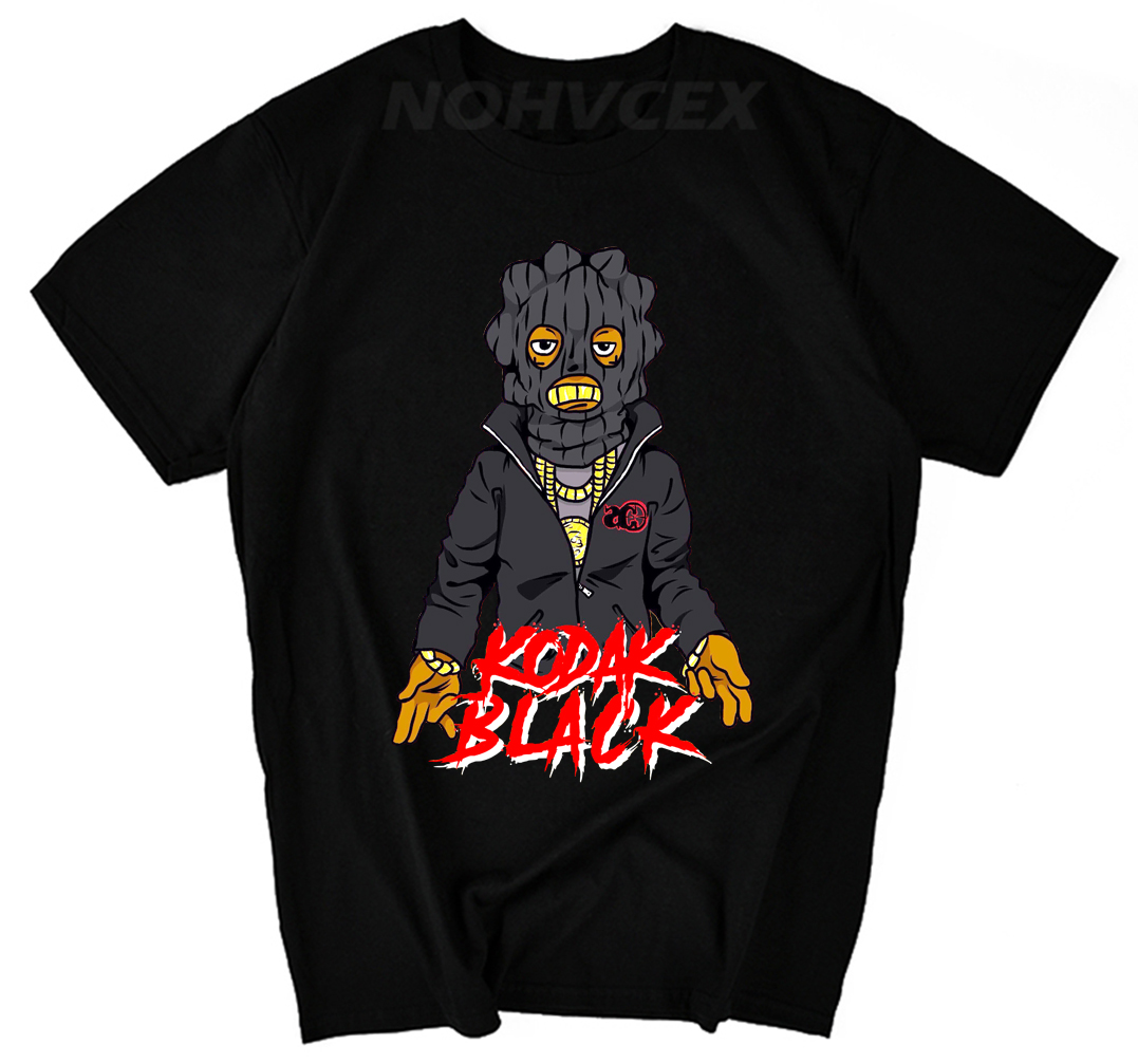 Cotton T Shirt Short Sleeve Summer O-Neck Mens Free Kodak Black Music Project  Tee Shirt