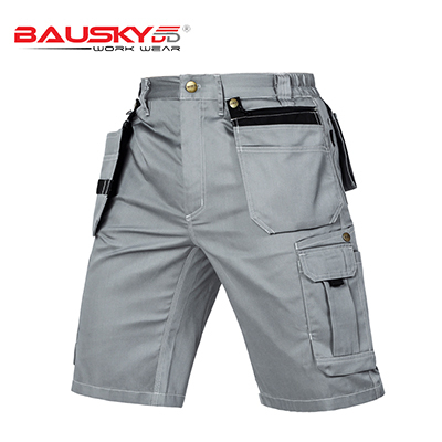 New High quality men's summer work short workwear multi pockets short work pant work short trousers free shipping 3