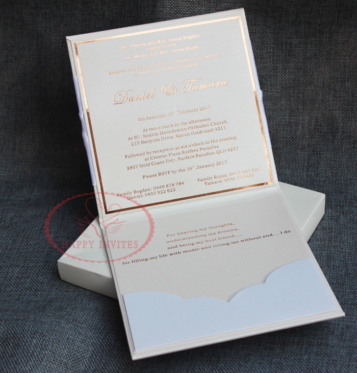 HI1075 Exclusive Hardcover Luxury Wedding Invitation Card with ...