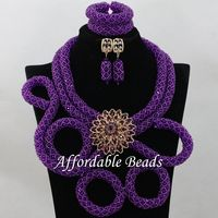 Wholesale African Necklace Sets Glamorous Nigerian Beaded Jewelry Unique Style NCD116