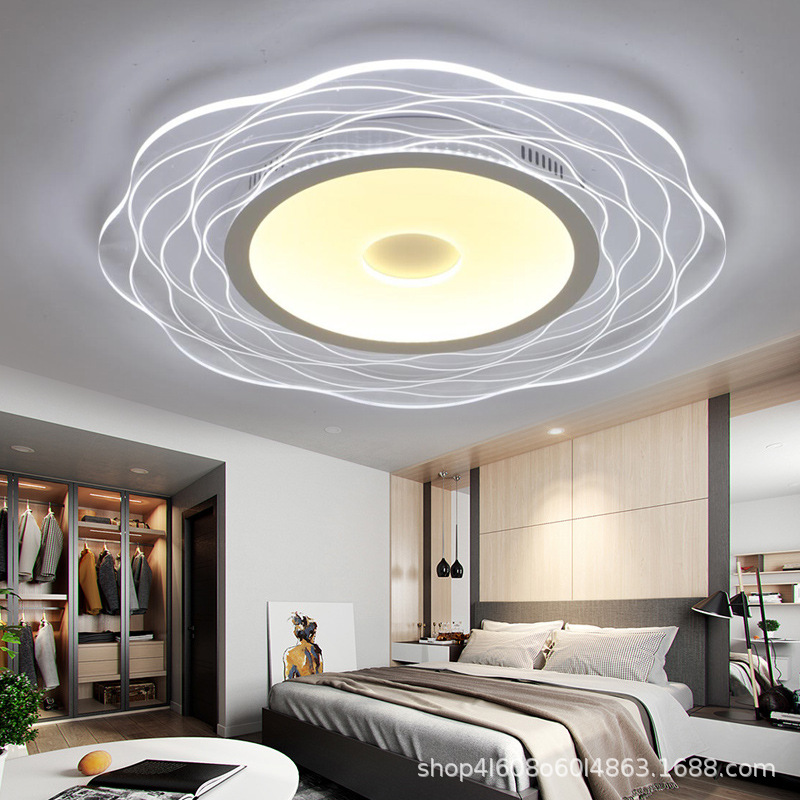 Creative circular warm and romantic master bedroom lamp ultra-thin atmospheric dining room  study lamps lanterns