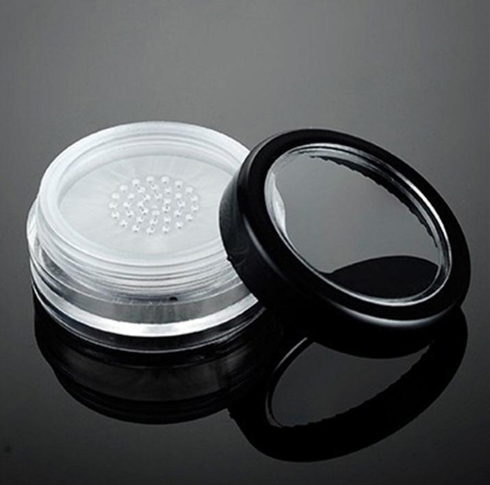 500pcs 10g portable loose powder jar with rotating sifter with twist up sifter powder container tins for cosmetic makeup SN379