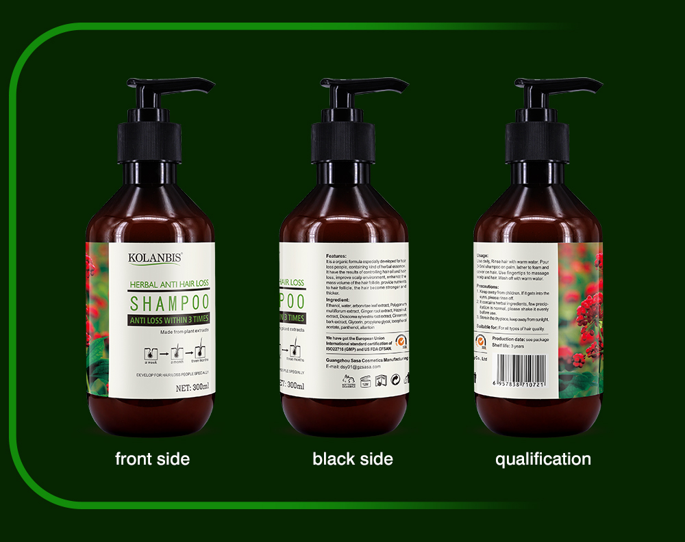 natural hair care products ginseng bald hair growth shampoo for man oil hair anti hair loss treatment with no side effects