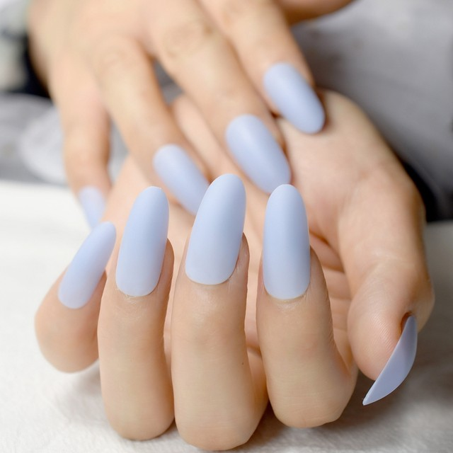 Amazing Long Oval Acrylic Nails Collection - Nail Paint Design Ideas ...