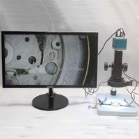 14MP HDMI USB Industrial Microscope Video Camera 180X 300X C-mount Lens Adjustable LED lights Workbench Phone Repair