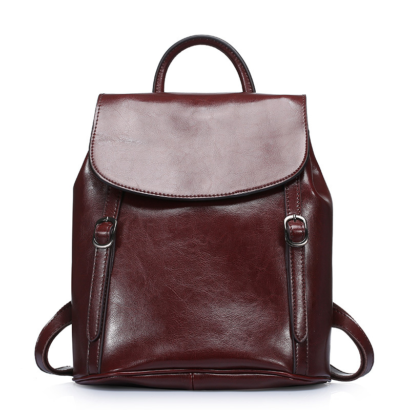 цена на Women Backpack High Quality Cow Split Leather School Bags For Teenagers Girls Korean Fashion Backpacks Shoulder Bag