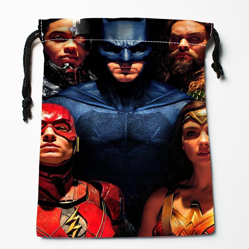 Custom Justice League Drawstring Bags Custom Storage Bags Storage Printed gift bags More Size 27x35cm Compression