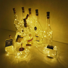 2M 20pcs LED Garland Copper Wire Corker String Fairy Lights for Glass Craft Jar Bottle Lights Christmas Valentines Wedding Decor(China)
