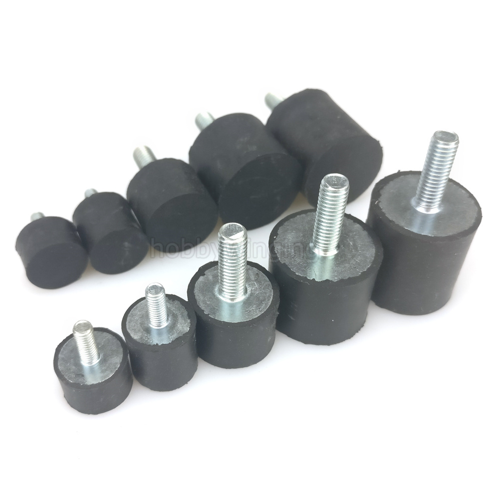 10PCS  VE Type Single Head M3 M4 M5 M6 Anti-Vibration Rubber Shock Absorber Rubber Vibration Isolator