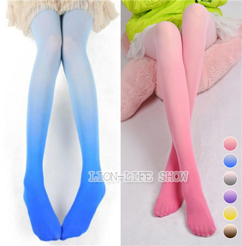 Fashion Sexy 30D Ombre Watercolor Velvet Gradient Tights Pantyhose free shipping