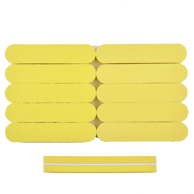 10Pcs Mini Nail File Sanding Block Buffer 100/180 Nail Tools Sponge Diamond Mixed 5 Color Nail File Rubbing Polished Surface