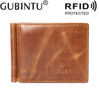 Thin Minimalist Front Pocket Wallets For Men Money Clip Made From Full Grain Leather Bifold Slim