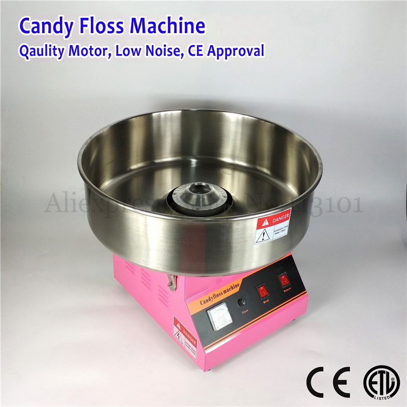 Electric Cotton Candy Maker Commercial Candy Fairy Floss Machine 52cm Bowl 220V 1030W Stainless Steel Sugar Scoop CE Approval electric candy floss maker pink cotton candy machine with stainless steel bowl 420w 220v diy home use