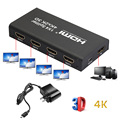 Full HD HDMI Splitter 1X4 4 Port Hub Repetidor Amplificador 3D v1.4 2160 p 1 em 4 para fora