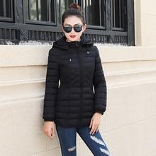 2018 New Fashion Down Cotton Women Short Winter Slim Thickening Hooded Jacket Long Sleeve Large Size Cotton Coat Women Clothing цена 2017