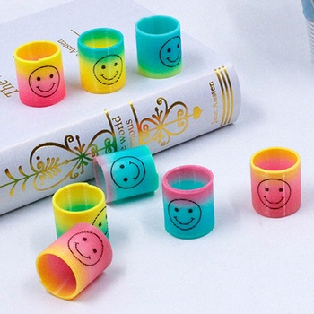 12pcs/set Mini Springs Rainbow Circle Kids Funny Toy Educational Gifts For Child Party Bag - sale item Novelty & Gag Toys