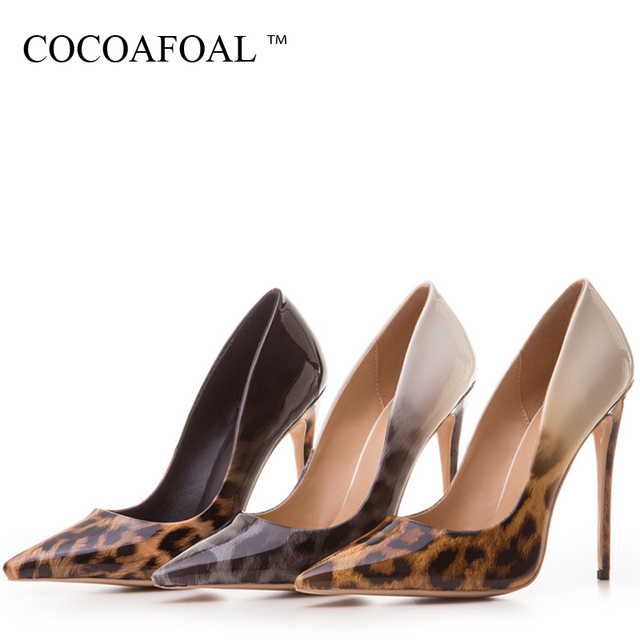 COCOAFOAL Woman Leopard Pumps Plus Size 33 - 43 Fashion Sexy Stiletto Party Wedding Pumps Autumn 12 CM Ultra High Heels Shoes 4
