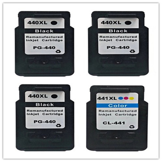 4PK Compatible For Canon 440 441 PG 440 CL 441 Printer Ink Cartridge For MX528  MG2180 MG4180 MX398 Inkjet Printer Free Shipping