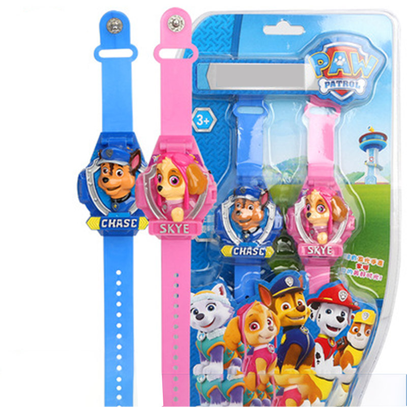 Original Paw Patrol Electronic Toys Children's Electronic Cartoon Luminous Music Toy Watch Archie Toy For Children
