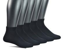 Uomini calzini 5 Paia di Bambù Non vincolante Piatto Alla Caviglia In Maglia Diabetici/calze Vestito con Senza Soluzione di Continuità Punta (grande e grosso disponibili)