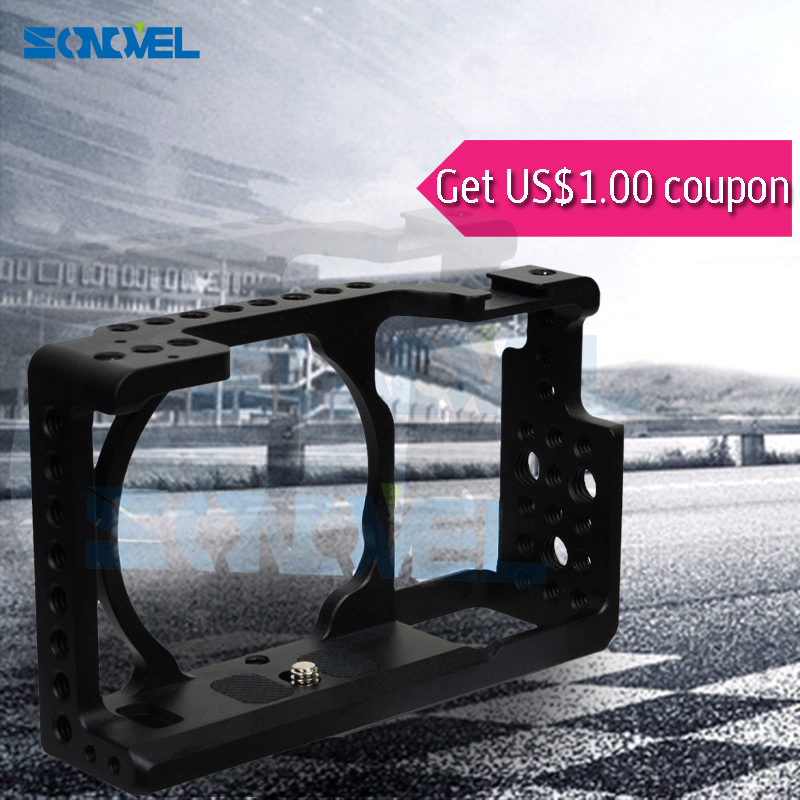 SONOVEL Protective Video Camera Cage Stabilizer Camera Cage DSLR Rig for a6000 ICLE-6000 NEX-7 NEW  for SONY alpha a6300 new version smallrig cage for sony a6300 a6000 a6500 ilce 6000 ilce 6300 ilce a6500 sony nex 7 cage 1661
