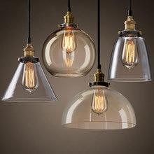 Vintage Pendant Lights American country creative glass Pendant Lamp E27 Edison Light Bulb Dinning room Kitchen Home Simple Lamp