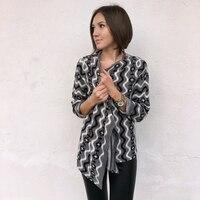 Hot Sale Geometric Pattern Open Switch Women Plus Size Cardigan Sweater Coat Cotton Knitwear