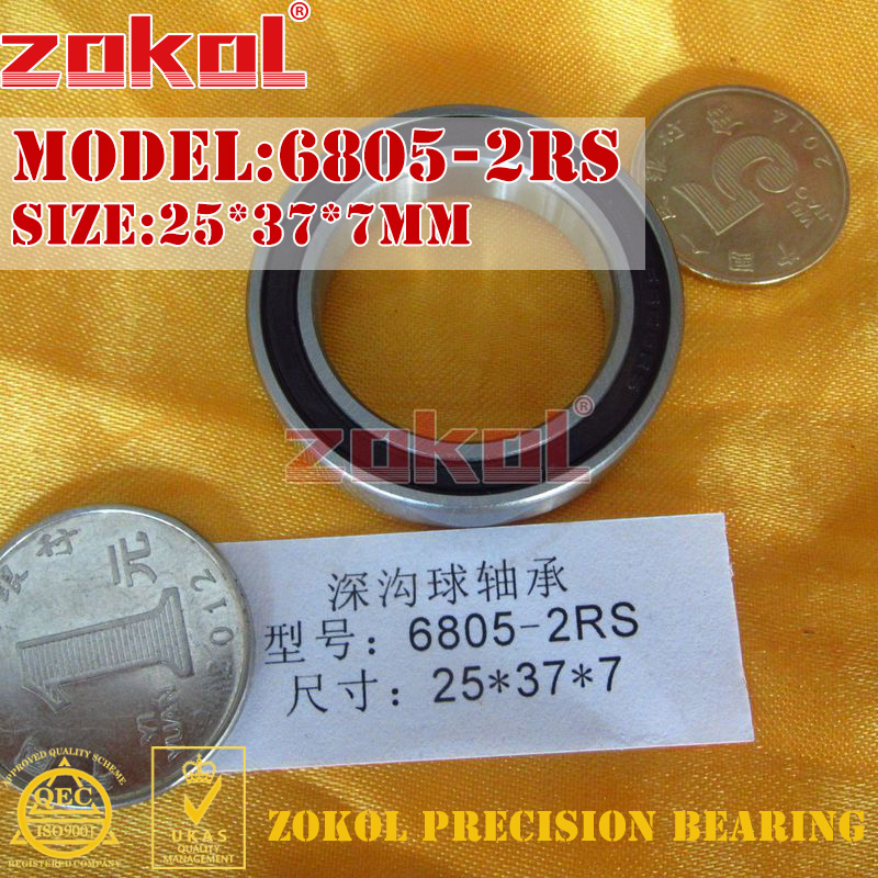 ZOKOL 6805RS bearing 6805 2RS RS 1000805 6805-2RS Deep Groove ball bearing 25*37*7mm zokol 6314 2rs bearing 6314 2rs 180314 deep groove ball bearing 70 150 35mm