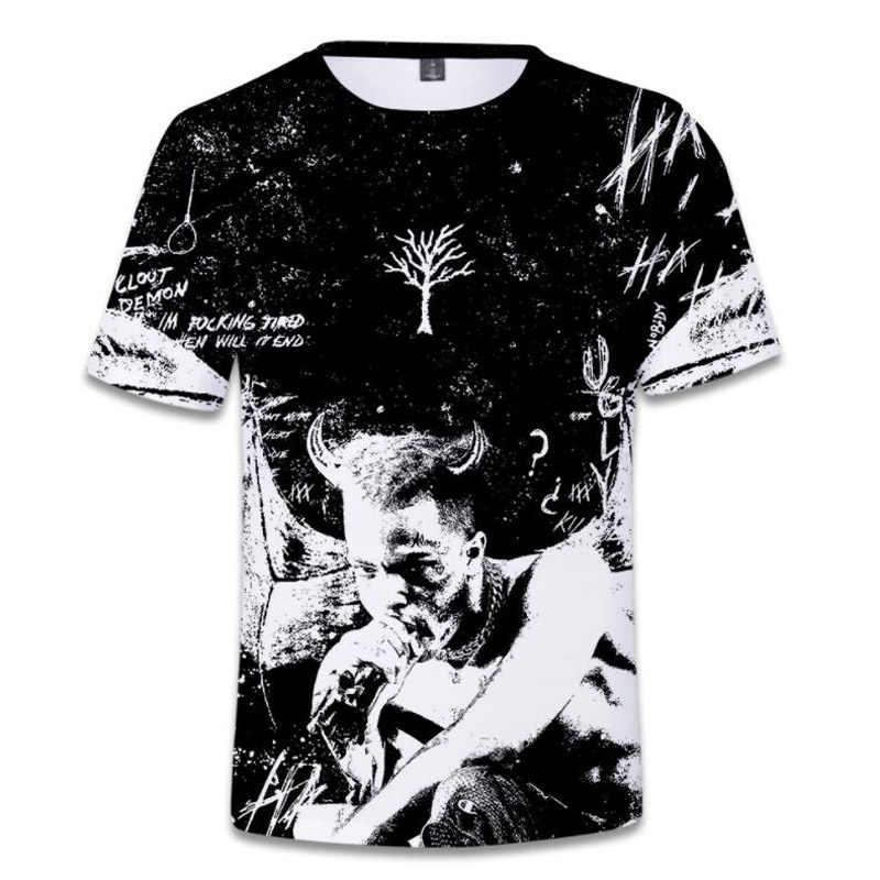 Mens T Shirts moda 2018 RIP Xxxtentacion Hip Hop Rapper 3D imprimir camiseta  hombres Streetwear Harajuku f8998b6fe4f